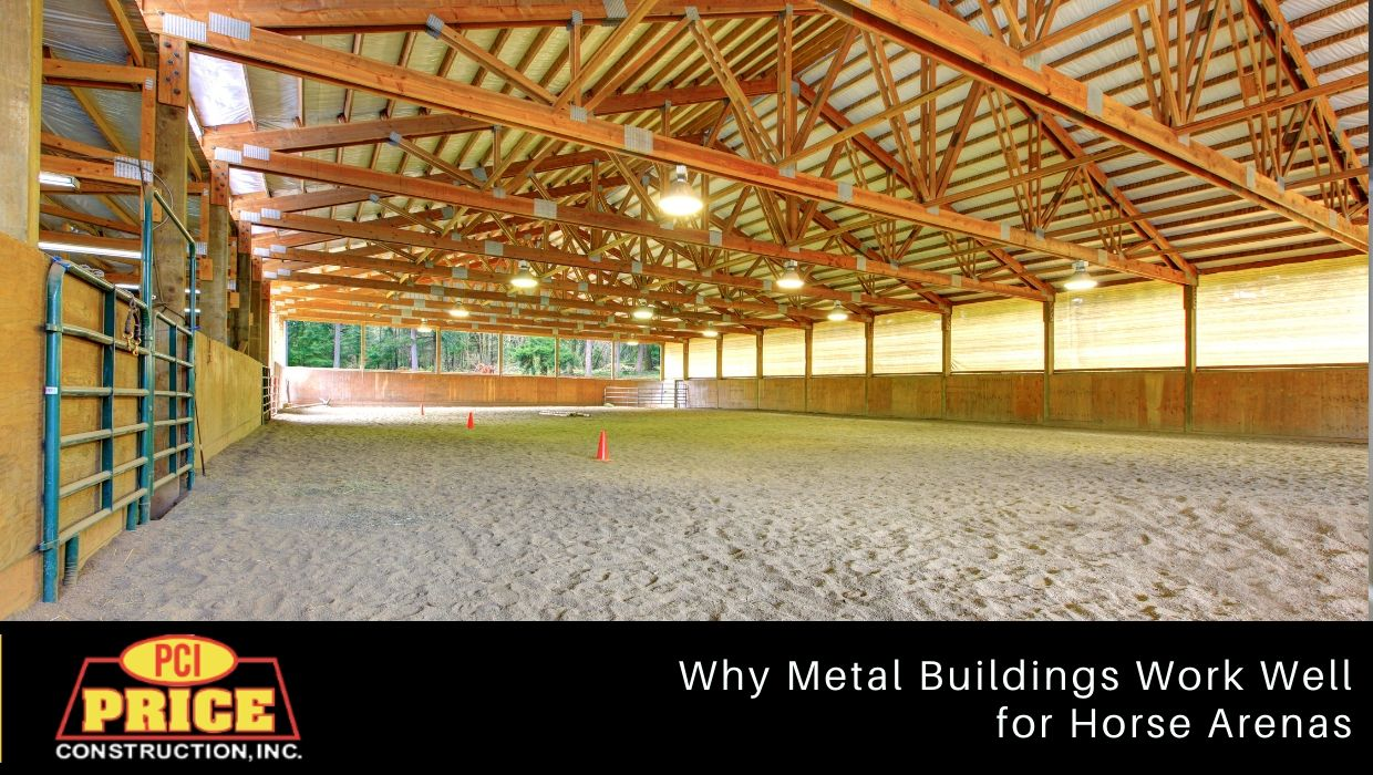 Why Metal Buildings Work Well for Horse Arenas