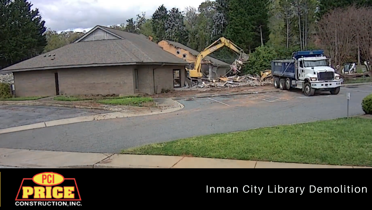 Inman Library Demolition