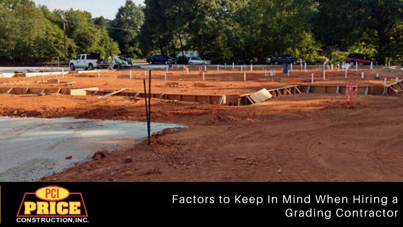 Hiring a Grading Contractor